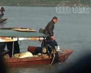 Đã xác định vị trí tàu chìm trên sông Hồng