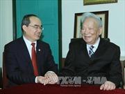 Đồng chí Nguyễn Thiện Nhân thăm các nguyên lãnh đạo Bộ Quốc phòng