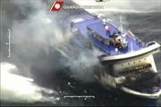 Hình ảnh vụ cháy phà Norman Atlantic