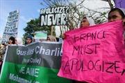 Biểu tình phản đối tranh biếm họa của Charlie Hebdo ở Algeria