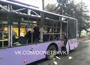 Trạm xe buýt Donetsk trúng đạn pháo, 13 người thiệt mạng