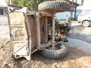 Lật xe công nông khiến 11 người thương vong