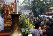 Phục dựng lễ rước kiệu Ngọc Lộ tại Lễ hội khai ấn Đền Trần