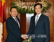 Thủ tướng Nguyễn Tấn Dũng tiếp Bộ trưởng Kế hoạch Campuchia