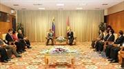 Phó Thủ tướng Hoàng Trung Hải tiếp Phó Tổng thống Venezuela
