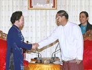 Hoạt động của Phó Chủ tịch nước Nguyễn Thị Doan tại Myanmar