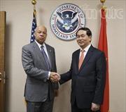 Bộ trưởng Trần Đại Quang hội đàm Bộ trưởng An ninh nội địa Mỹ