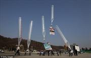 Triều Tiên dọa bắn hạ bóng bay mang truyền đơn của Hàn Quốc