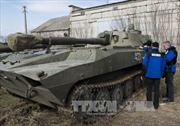 Lính tình nguyện Ukraine được điều động về thủ đô