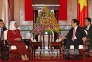 Chủ tịch nước Trương Tấn Sang tiếp Chủ tịch Quốc hội Singapore