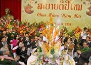 Thắm thiết tình anh em Việt - Lào trong Tết Bun Pi May