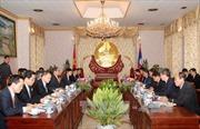 Lãnh đạo Lào hội đàm với đoàn đại biểu cấp cao Việt Nam