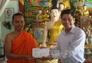 Ban Chỉ đạo Tây Nam bộ chúc tết đồng bào Khmer