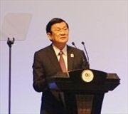 Chủ tịch nước Trương Tấn Sang dự Lễ kỷ niệm Chiến thắng Vệ quốc