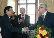 Chủ tịch nước hội kiến Chủ tịch Thượng viện và Chủ tịch Hạ Viện CH Séc