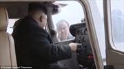 Ông Kim Jong-un lái thử máy bay Triều Tiên sản xuất