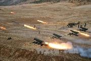 Triều Tiên diễn tập bắn đạn thật trên Hoàng Hải