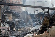 Hỏa hoạn thiêu rụi 3 căn nhà trong hẻm Sài Gòn