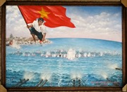Bán đấu giá bức tranh 'Gạc Ma - Vòng tròn bất tử'