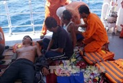 Tàu cá Quảng Nam bị đâm vỡ, 4 thuyền viên thương vong