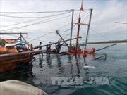 Thanh Hóa cứu được 7 ngư dân bị chìm tàu do bão số 1