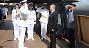 """Tổng thống Putin thăm tuần dương hạm """"Rạng Đông"""""""