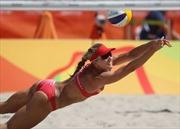 Mỹ nhân bóng chuyền bãi biển nóng bỏng tại Rio