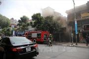 Cháy cửa hàng tranh trên phố Nguyễn Thái Học, Hà Nội
