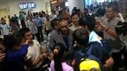 Ba thuyền viên Việt bị cướp biển bắt cóc đã về tới Hà Nội