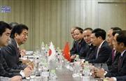 Chủ tịch nước Trần Đại Quang hội đàm với Thủ tướng Nhật Bản