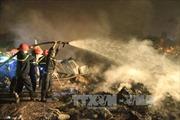 Cháy xưởng đồ nhựa, thiệt hại hàng chục tỷ đồng