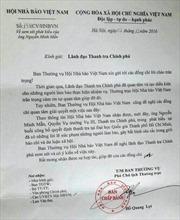 Đề nghị xem xét Quyền Vụ trưởng Thanh tra Chính phủ xúc phạm báo chí
