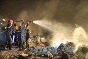 Cháy lớn tại Khu Công nghiệp La Phù (Hà Nội)