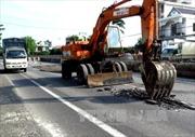 Sụt lún, nứt mặt đường Quốc lộ 1