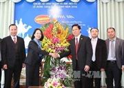 Đồng chí Trương Thị Mai chúc mừng Giáng sinh Hội thánh Tin lành Việt Nam
