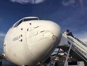 """Boeing 737 """"toét đầu"""" vì thiết bị bay không người lái"""