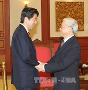 Tổng Bí thư Nguyễn Phú Trọng tiếp Thủ tướng Nhật Bản Shinzo Abe