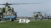 Trực thăng Nga phối hợp ăn ý trong tập trận không quân mở màn 2017