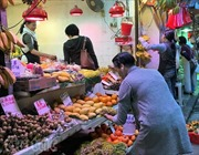 Chợ dân sinh ở Hong Kong vẫn nhộn nhịp giữa chốn phồn hoa