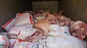 Tiêu hủy nhiều tạ thịt lợn bẩn ở Bình Phước