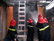 Cháy lớn lúc nửa đêm, thiêu rụi 1 cửa hàng gas