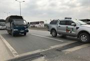 Hằn lún mặt cầu Thanh Trì gây nguy hiểm cho phương tiện lưu thông