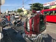 Ô tô nổ lốp tông xe máy, một người tử vong