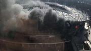 Sân vận động của 'đại gia bóng đá Trung Quốc' bốc cháy