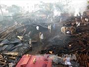 Cháy xưởng mộc trong khu dân cư tại Lâm Đồng