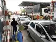 Quốc lộ 1A lại nghẽn do người dân phản đối trạm thu phí BOT cầu Bến Thủy