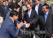 Thủ tướng Nguyễn Xuân Phúc bắt đầu thăm chính thức Campuchia