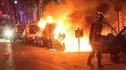 Bạo loạn bùng phát, hàng loạt xe hơi bị phóng hỏa trên phố sau vòng 1 bầu cử tổng thống Pháp