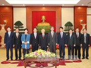 Tổng Bí thư Nguyễn Phú Trọng tiếp thân mật Chủ tịch Quốc hội Hàn Quốc Chung Sye-kyun