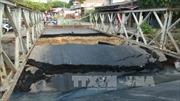 Đồng Tháp: Sập cống trên tỉnh lộ 848, giao thông gián đoạn